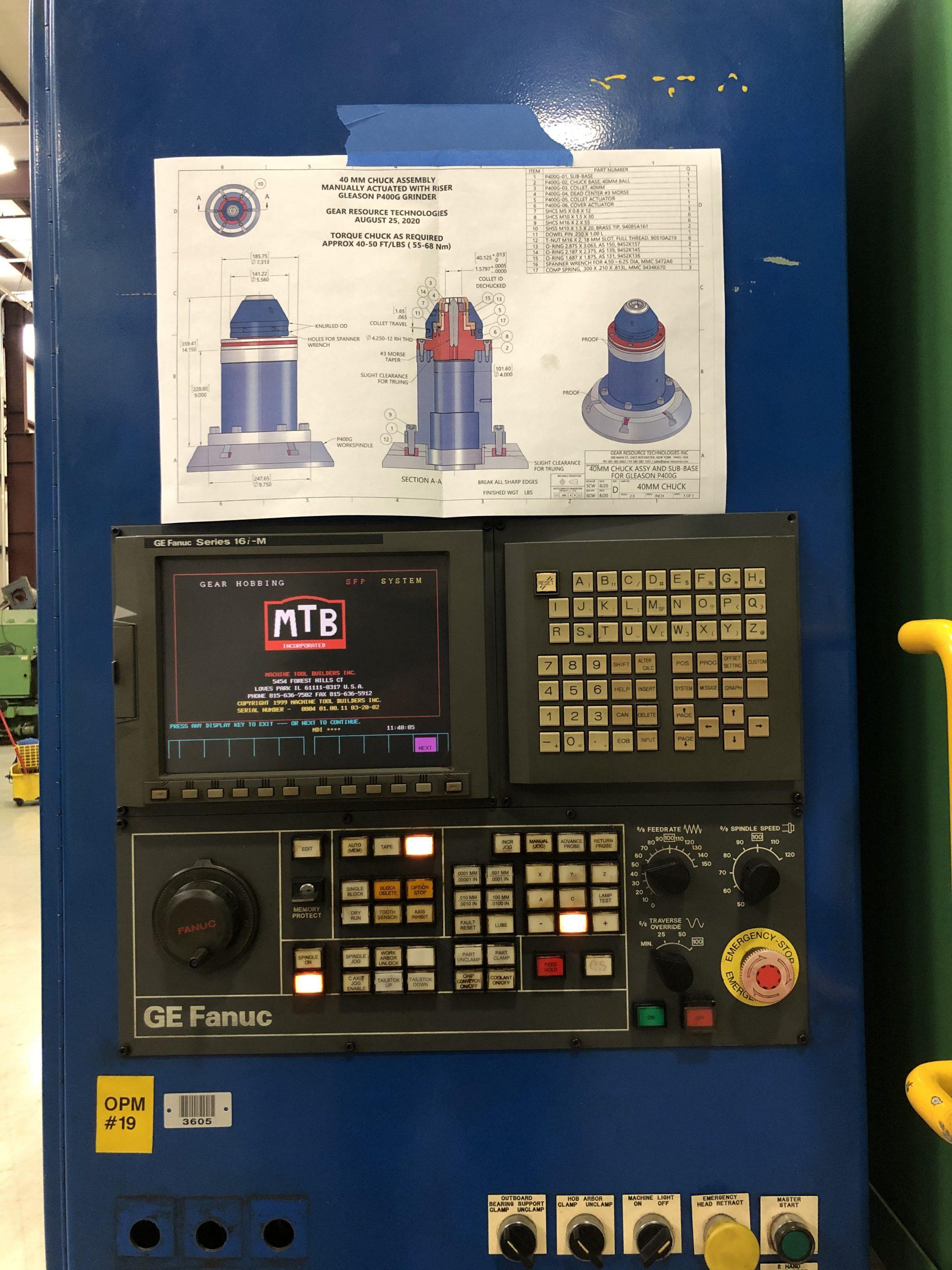 Pfauter PE-500 CNC Hobbing Machine